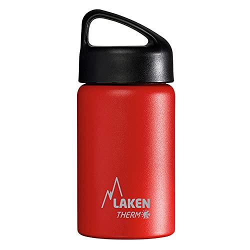 Laken Bouteille Isotherme Classique en Acier Inoxydable avec Isolation Sous Vide et Goulot Large 350 ml Rouge