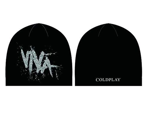 Coldplay Mütze Beanie Viva La Vida Band Logo Nue offiziell Schwarz Unisex