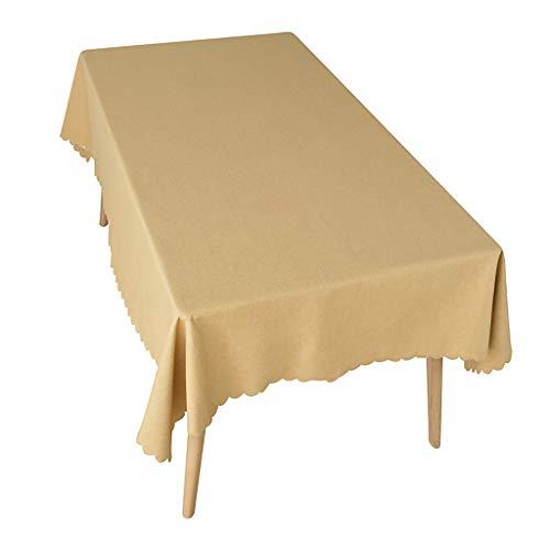 Nappe Unique Party Plastique Blanc Nappe Coton Polyester Rectangle Table Cloth Couverture For Manger, Fête De Noël 6 Couleurs (Color : Yellow, Size : 140 * 200cm)