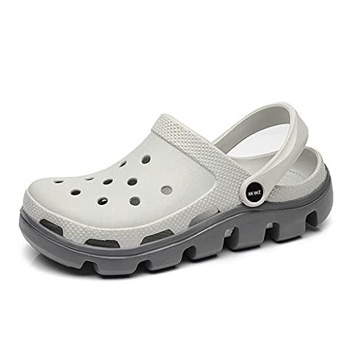 QUNHU Zapatos para Hombres y Mujeres, Sandalias clásicas de Deportes para Hombres, Zapatillas de Madera de jardín Interior al Aire Libre para Hombre, Zapatos de Trekking (Color : Gray, Size : 38EU)