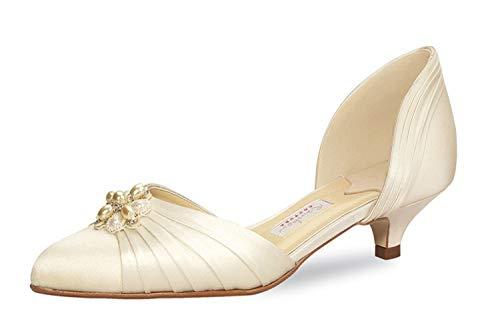 Brautschuhe Rainbow Couture Delano Ivory Seiden Satin EU 37