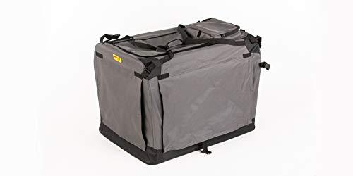 COOL PET Hundetransportbox 91 * 64 * 64cm 2XL,Transportbox, Käfig, Box für Hund, Hundetasche, Autobox, Faltbare Hundebox (grau)