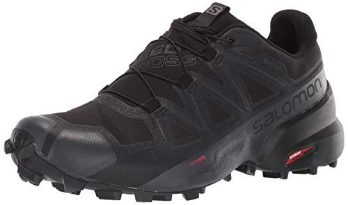 Salomon Men's Speedcross 5 GTX Trail Running Shoe, Black/Black/PHANTOM, 10.5
