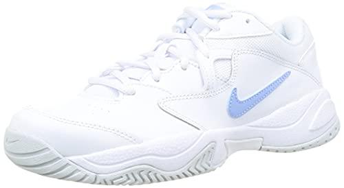 Nike NikeCourt Lite 2, Chaussure de Tennis Femme, White Aluminum Pure Platinum, 39 EU