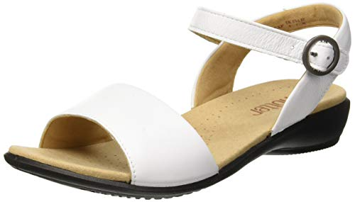 Hotter Damen Tropic Extra Wide Slingback Sandalen, Weiß (White 077), 36 EU