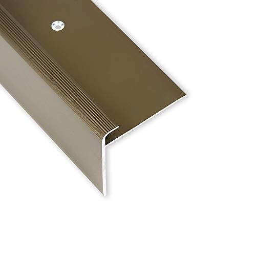 Toolerando Treppenkantenprofil - 90 cm, F-Form, Schraubmontage, bronze