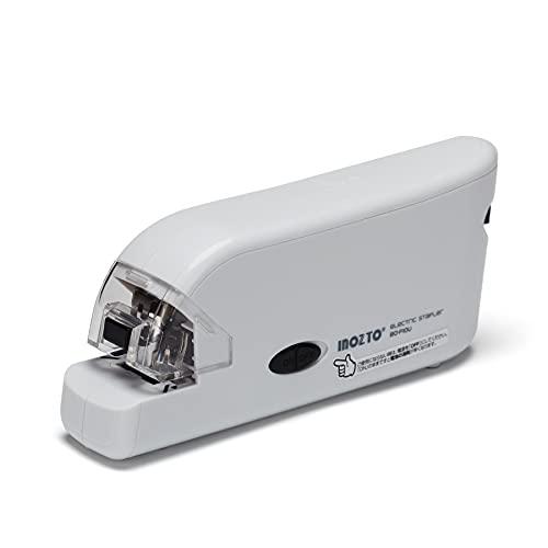 ホッチキス 自動ホチキス 電動ステープラー フラットクリンチ 20枚とじ 100本装填 10号針 USB給電・単4号乾電池給電 電子ホッチキス コンパクト ホチキス 小型 コードレス リムーバー付き 予備針収納可能 小学生・大人・業務用・オフィス用