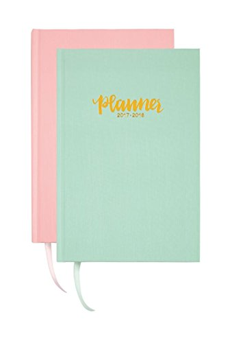 """Divoga Global Citizens Academic Weekly/Monthly Planner, 8"""" x 5"""", Assorted Colors, July 2017 to June 2018"""