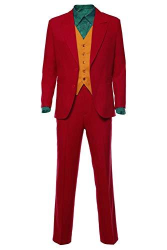 RedJade Clown 2019 Arthur Fleck Anzug Cosplay Kostüm Rot Herren M