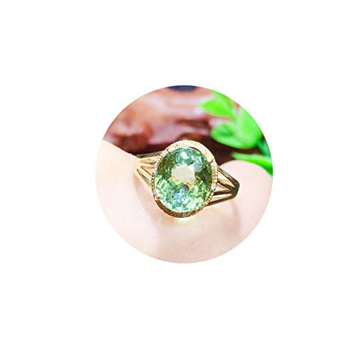 Ubestlove Goldring Tonabnehmer Ovale Mulde Partnerringe Personalisiert Turmaline Damen Ringe Größe 56