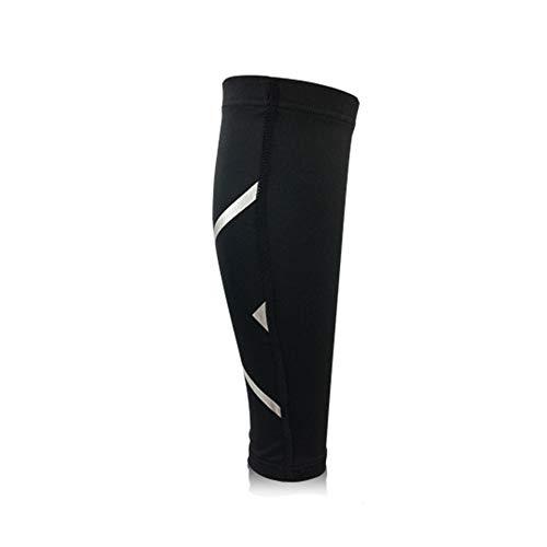3 paar kniecompressiemouwen, sterk ademende legging voor kuitcompressie met reflecterende patronen voor veiligheid en zekerheid - drie kleuren