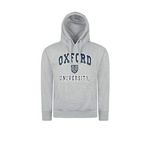 Sudadera con capucha de Oxford University, impresión de calidad, producto oficial gris X-Small