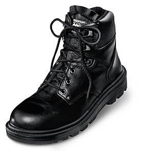 Uvex 8451.9–6+ Classic Schnürschuhe Sicherheit Stiefel mit Hydroflex 3D Schaum Einlegesohle, S2, EU 40, Größe 6,5, Schwarz