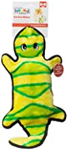 Outward Hound Stuffingless Gecko Toss and Tug Plush Dog Toy with Invincible Squeakers