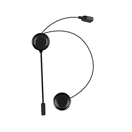 Runfon Casco de Auriculares Bluetooth Headset Moto MH01 Motocicleta sin Hilos del Auricular del Sonido estereofónico Manos Libres Soporte de micrófono de Voz Negro de Control