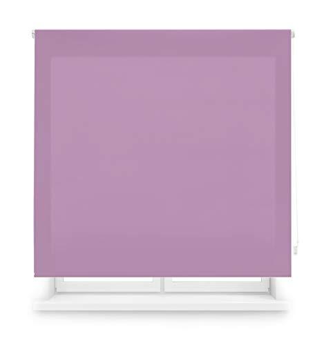 Blindecor Ara Estor enrollable translúcido liso, Morado, 140 x 175 cm, Manual