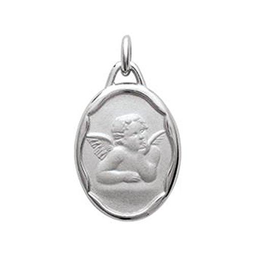 Hanger engel Raphael van sterling zilver 925, gerhodineerd