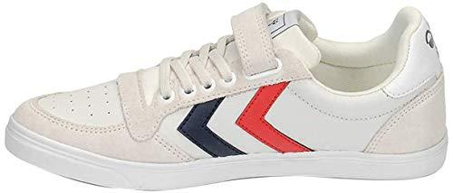 Hummel Unisex-Kinder Slimmer Stadil Leather Low Jr Sneaker Niedrig, Weiß (White 9001), 30 EU