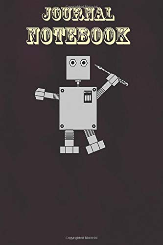 Composition Notebook, Journal Notebook Gift: Piccolo Robot Funny Musical Instrument Size 6'' x 9'', 100 Pages for Notes, To Do Lists, Doodles, Journal, Soft Cover, Matte Finish