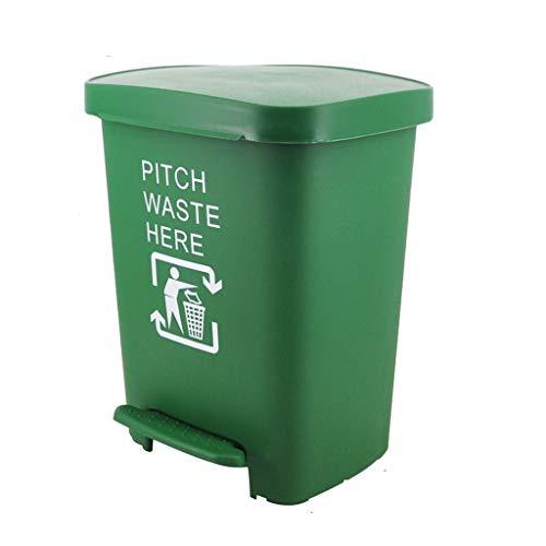 ZHOME prullenbak met grote vuilnisemmer, vuilnisbak buiten, plastic vuilnisbak, 30 liter