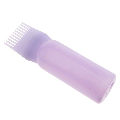 yotijar Botella para Teñir El Cabello con Cepillo, Peine, Tinte - Púrpura