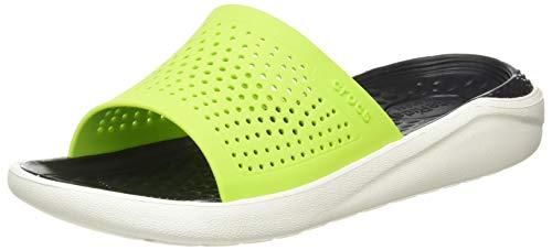 Crocs Men's and Women's LiteRide Slide Sandals | Comfortable Slip On Sandals - Green