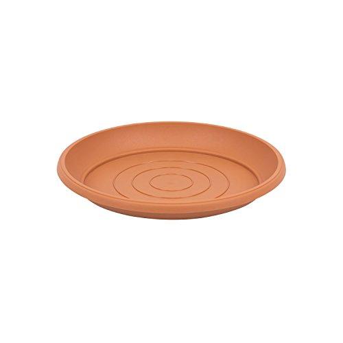 Terra soucoupe en plastique, marron couleur, diametre: 21 cm