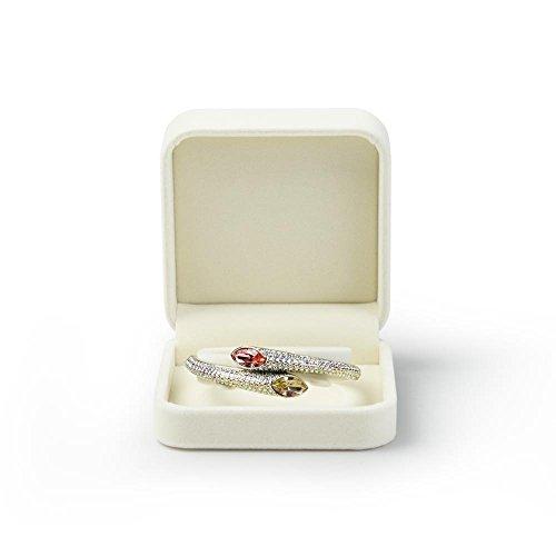 Oirlv Velvet Bracelet Gift Boxes White Bangle Display Jewelry Box