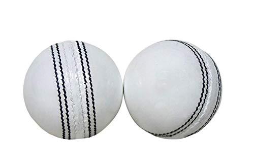 AnNafi Leather White Cricket Ball A Grade Handstitched White (2)
