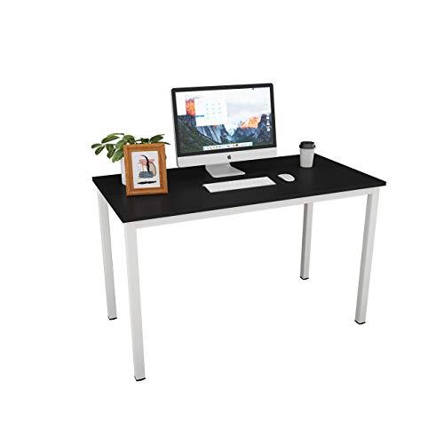 Need Schreibtisch Computertisch 120x60cm PC Tisch Bürotisch Arbeitstisch Esstisch für Home Office, Schwarz&Weiß AC3CW-120