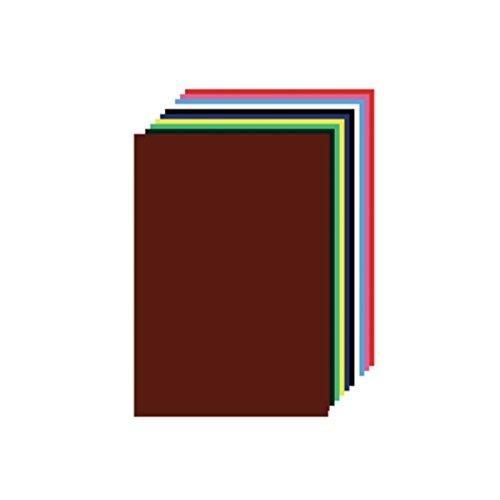 5 Blöcke Glanzpapier / 50 Blatt / 10 Farben / 20x30cm / gummiert