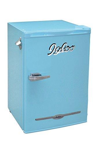 Igloo FR376-BLUE 3.2 cu. ft. Retro Bar Fridge with Side Bottle Opener, Blue
