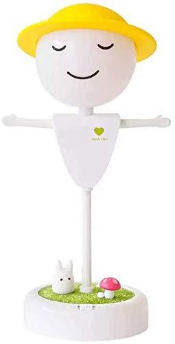 CNCDRS Sensor táctil cargable Apague Las Luces Dormir regularmente Modo de sueño Vibration Scarecrow LED Lámpara de Mesa USB Luz de Noche con Audio Bluetooth
