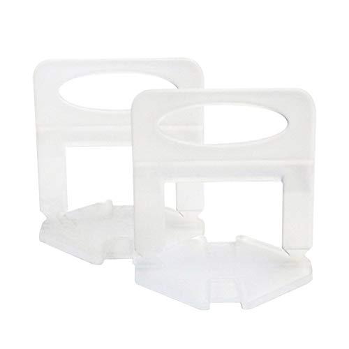 Delisouls Sistema de nivelación de azulejos, espaciadores de nivelación, cuñas reutilizables para nivelar porcelana cerámica mármol