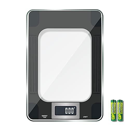 Balance cuisine, MomMed Balance de cuisine numérique avec une capacité maximale de 15 kg, affichage LED, haute sensibilité de mesure de 1 gramme