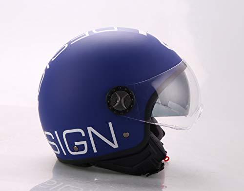 AL Helmets - CASCO DEMI-JET MOD. 101/BIS BLU E BIANCO MISURA M - DOPPIA VISIERA