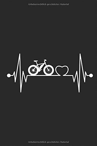 Fatbike Herzschlag: Notizbuch MTB Beach Cruiser Fahrrad dicke fette Mountainbike Bergfahrrad Reifen Planen Notieren Rechenheft Liniert Journal A5 120 ... Tagebuch Geschenk für Fahrradfahrer Radfahrer