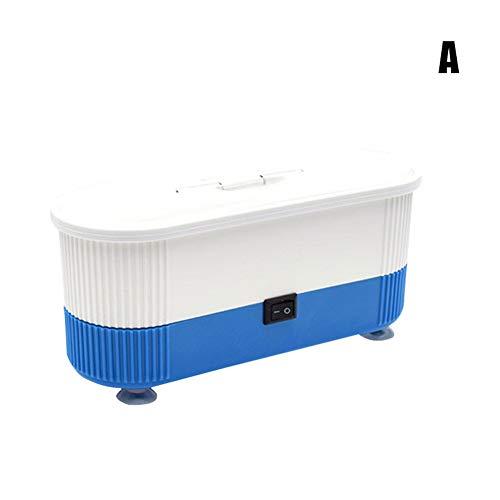 kangOnline Ultraschall-Reinigungsgerät für Brillen, Uhren, Ringe, Armbänder, Schmuck-Reiniger, Ultraschall-Reinigungsgerät für Zuhause und Büro, blau, A