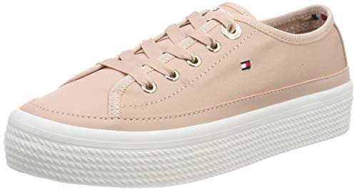 Tommy Hilfiger Damen Corporate Flatform Sneaker, Pink (Dusty Rose 502), 40 EU