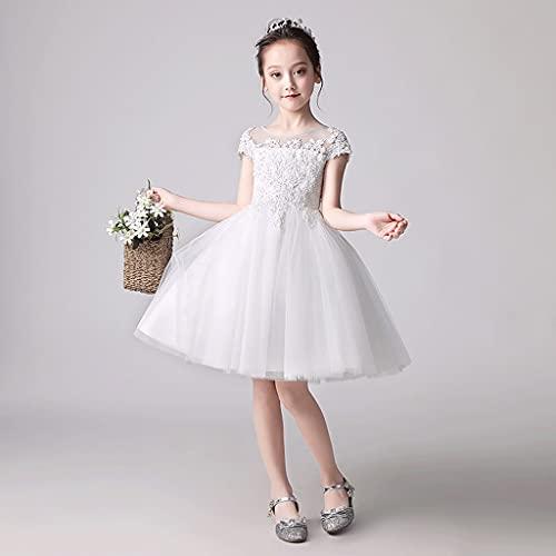 XIAOQIAO Vestidos para niños, Vestidos de Princesa, Disfraces de Piano para niñas, Vestidos de Novia de niña de Flor, Vestidos de Noche de acogida (tamaño : 150)