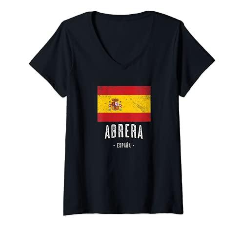Mujer Abrera España | Souvenir - Ciudad - Bandera - Camiseta Cuello...