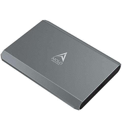 AIOLO 1TB Disco Duro Externo portátil Aleación de Aluminio Tipo C USB3.1 HDD Almacenamiento Compatible para PC, Mac, computadora de Escritorio, computadora portátil, MacBook, Chromebook