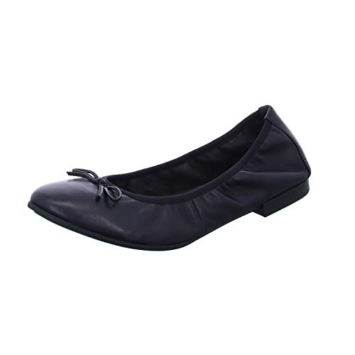 Tamaris Damen Ballerinas, Frauen Klassische Ballerinas, sommerschuh elegant Schleife weiblich Ladies Women's Women Woman leger,Black,39 EU / 5.5 UK