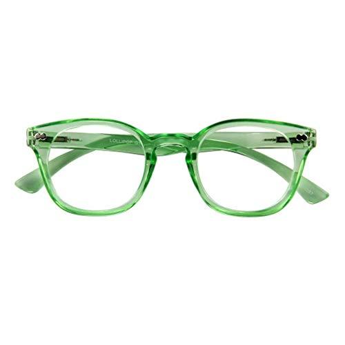 I NEED YOU leesbril LOLLIPOP, groen, 2.50 dpt. : leesbril met veertechniek, dikte: +2.50 dpt. Verkrijgbaar in verschillende kleuren/diktes.