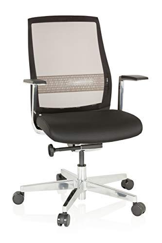 hjh OFFICE 657661 Profi Bürostuhl FOUNTAINE PRO Schwarz Drehstuhl ergonomisch, Netzrücken selbstheilend
