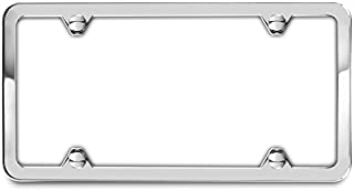 AutoStuff - Camisasca Polished Mirror Bright License Plate Frame 4 Holes
