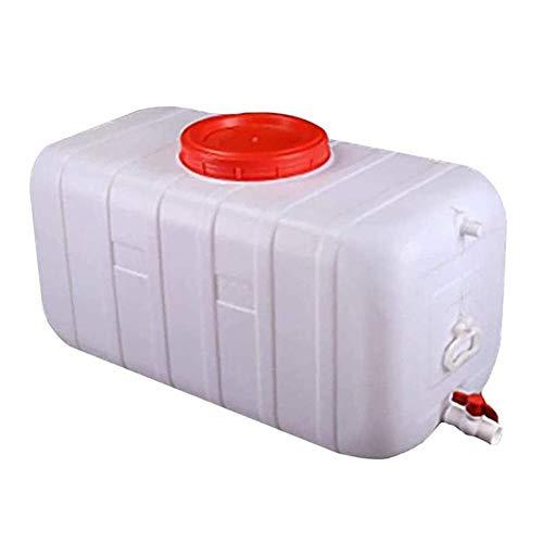 SOHOH Contenedor De Almacenamiento Agua Gran Capacidad, Cubo Plástico Grande Grado Alimenticio con Tapa Y Válvula Antienvejecimiento -20 ° C A + 70 ° C para Agua Autocaravana Al Aire Libre,300L