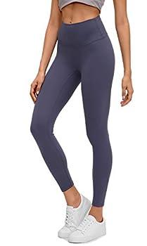 Lemedy Women Naked Feeling High Waist Tight Yoga Pants Workout Athletic Leggings  Navy Blue M