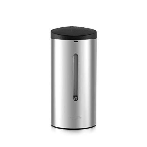 Dispensador de jabón Caja de líquido líquida de jabón de inodoro de catering for hostelería de acero inoxidable 700 ML sin dispensador de jabón de espuma automático Dispensador de Jabón Baño de Espuma