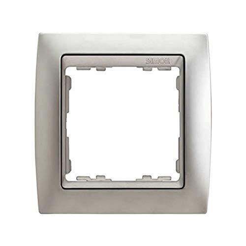 Simon - 82914-33 marco 1 elemento s82 metal noble aluminio mat Ref. 6558239158